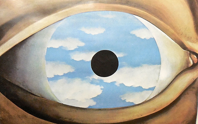 Dream the end for Rene magritte le faux miroir